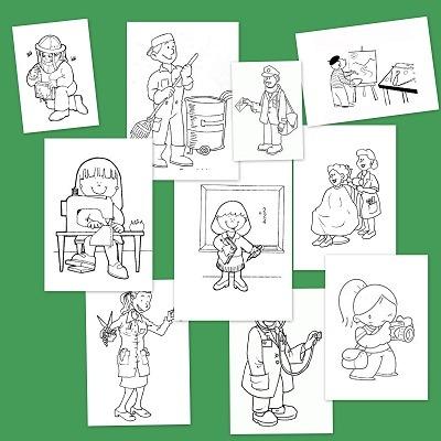Láminas De Oficios Y Profesiones Para Colorear