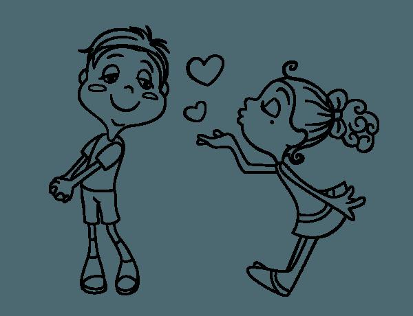 Imagenes De Enamorados Besandose Para Dibujar