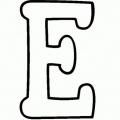 Letra E Mayuscula Para Colorear