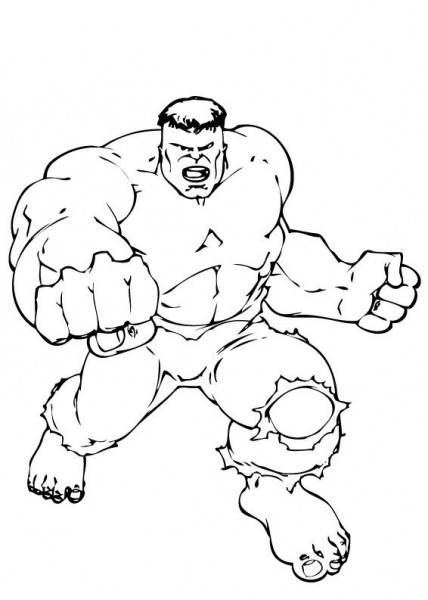 Hulk's Punch Coloring Pages