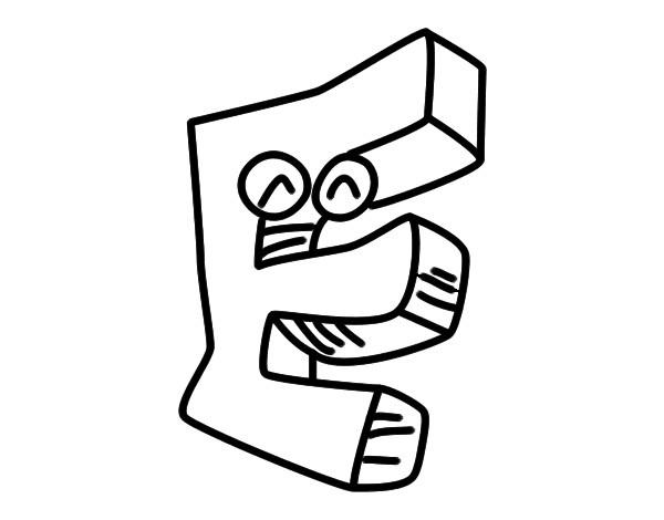 Dibujo De Letra E Pintado Por Raimond1 En Dibujos Net El Día 01
