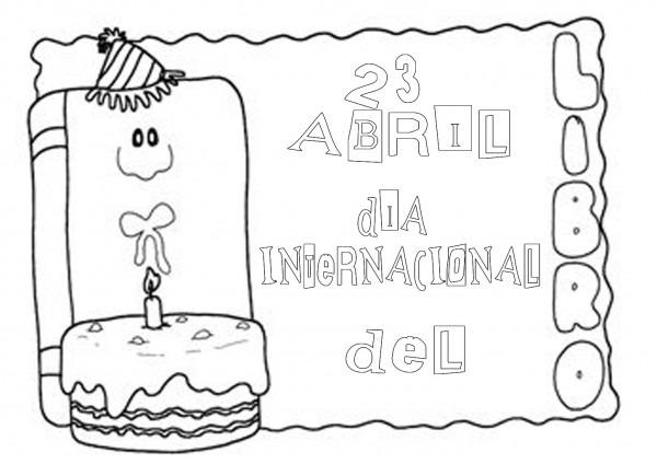 Dibujos Del Día Internacional Del Libro Para Pintar