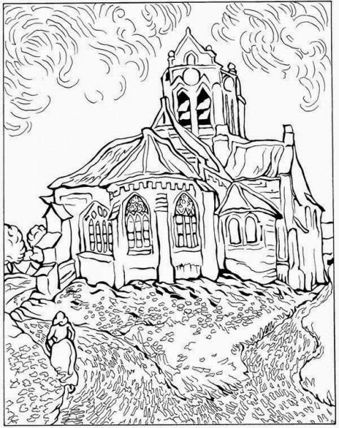 Libro Infantil Van Gogh Para Colorear