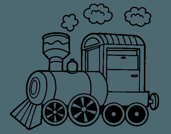 Dibujo De Locomotora De Vapor Para Colorear