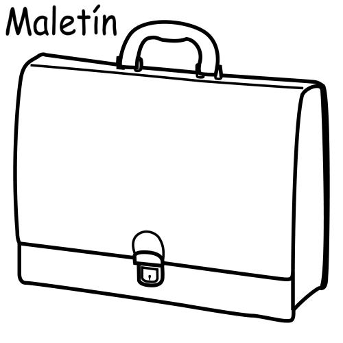 為孩子們的著色頁  Briefcase, Free Coloring Pages