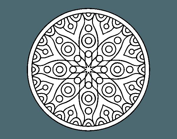Dibujo De Mandala Planetaria Para Colorear