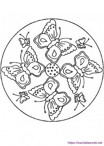 ▷ 44 Dibujos Y Mandalas Con Mariposas Para Colorear E Imprimir 🥇