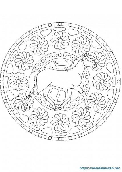 ▷ 39 Mandalas Y Dibujos De Caballos Para Colorear 🥇 Mandalasweb Net