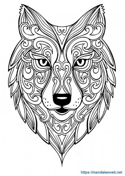 ▷ 36 Mandalas Y Dibujos De Lobos Para Colorear 🥇 Mandalasweb Net