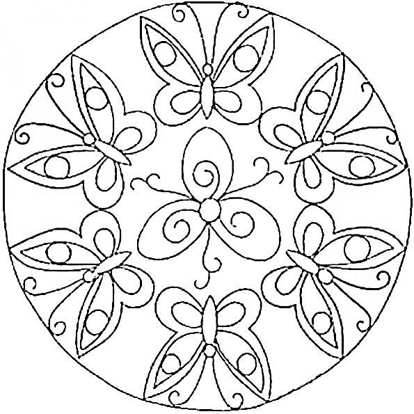 ⊛ Mandalas De Mariposas 🥇 Bellas Mariposas Para Colorear
