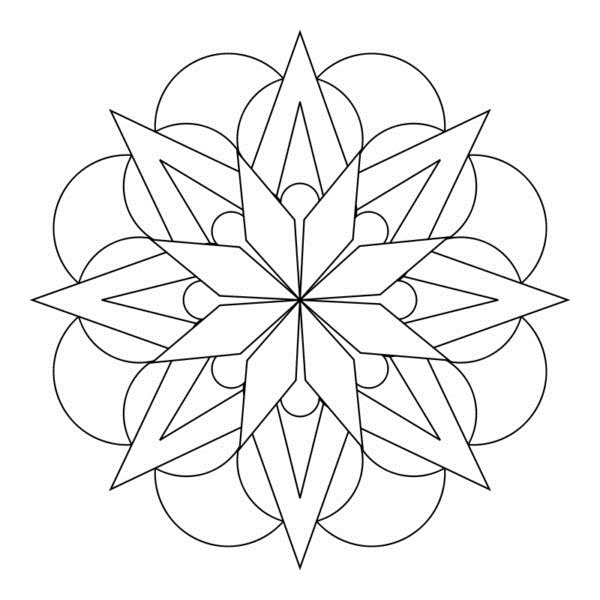 100 🥇 Dibujos De Mandalas Faciles Para Imprimir【2019】