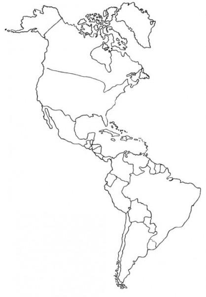 ▷ Mapa De América  Político, Regiones, Relieve, Para Colorear