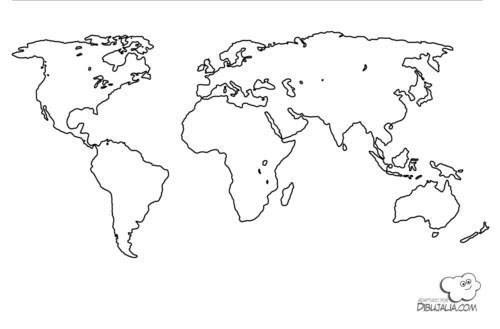 Mapamundi Para Niños, Físico, Político, Para Colorear E Imprimir