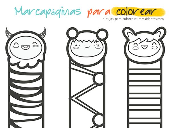 Marcapáginas Para Colorear