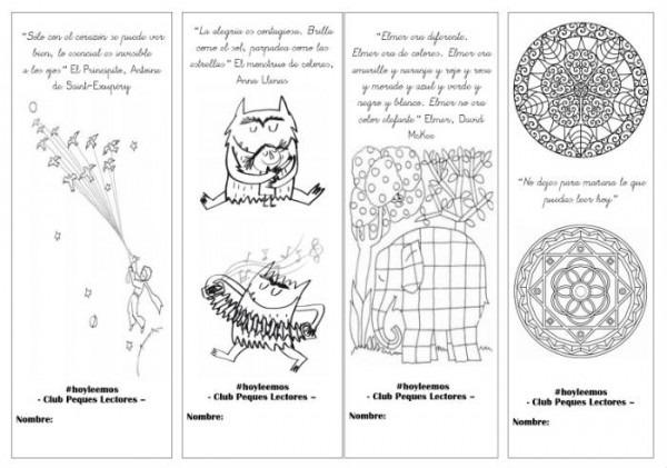 Imprimible] Marcapáginas Para Colorear, Tradicional Y Con Imán