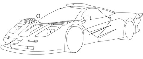Dibujo De Mclaren F1 Para Colorear