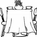 Dibujos Para Colorear De Comedor