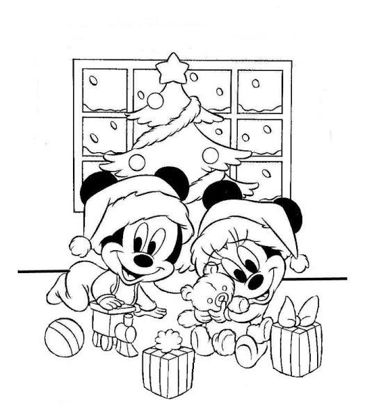 Imágenes Con Dibujos De Mickey Mouse De Navidad Para Colorear