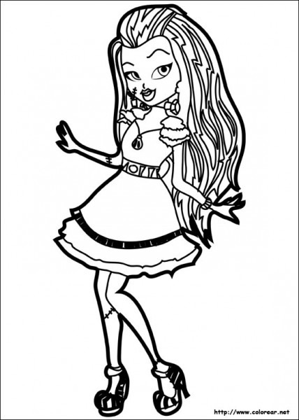 Dibujos Para Colorear De Monster High