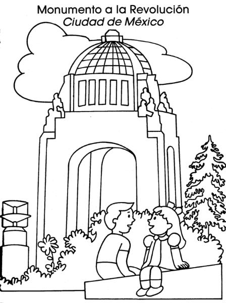 Colorea Tus Dibujos  Monumento A La Revolución Ciudad De México