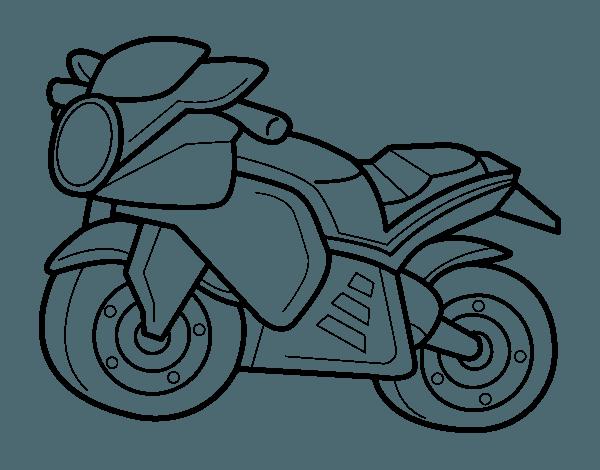 Dibujo De Moto Deportiva Para Colorear