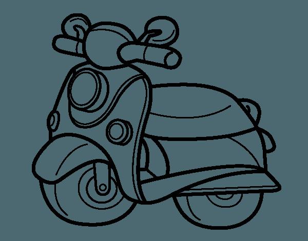 Dibujo De Moto Vespa Para Colorear
