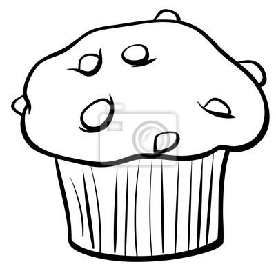 Muffin Con Chocolate Para Colorear Fotomural • Fotomurales
