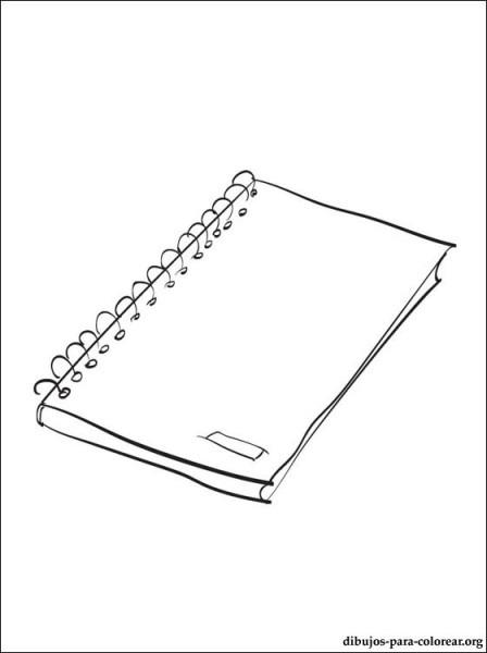 Dibujo De Libreta Para Pintar