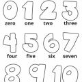 Numeros En Ingles Para Colorear Del 1 Al 20