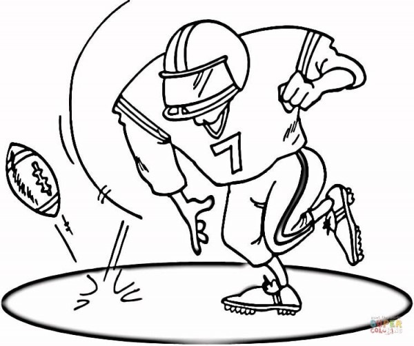 On The Football Field Coloring Page