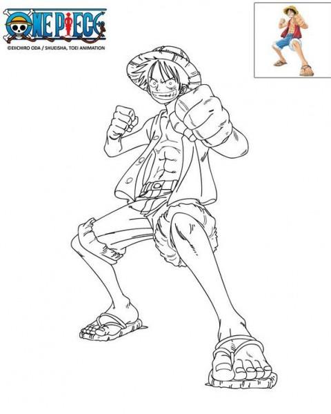 Dibujo Para Colorear One Piece