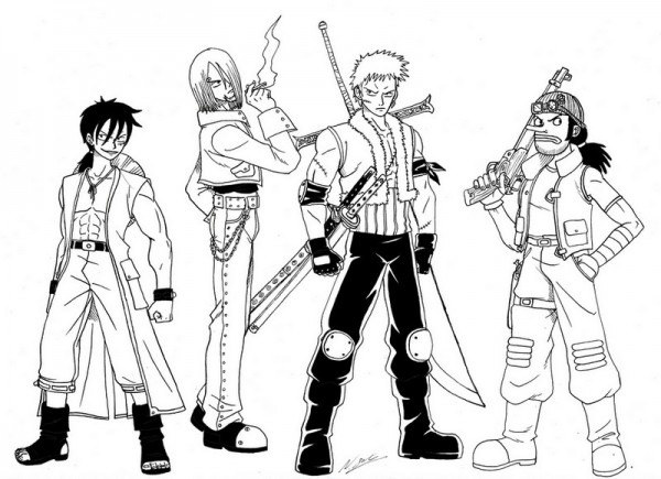 Dibujo Para Colorear One Piece 10