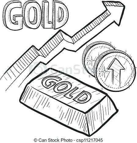 Cofre De Oro Para Colorear