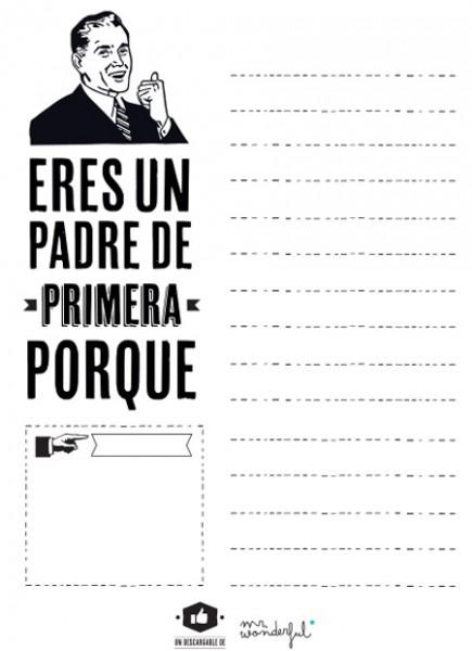 "Ficha ""un Padre De Primera"" – Dibujalia Blog"