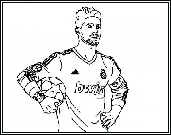 Dibujos De Futbolistas Del Real Madrid Para Colorear