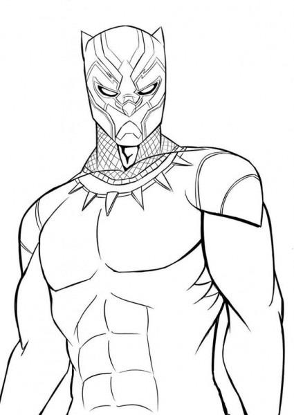 Dibujos De Pantera Negra (black Panther) Para Colorear