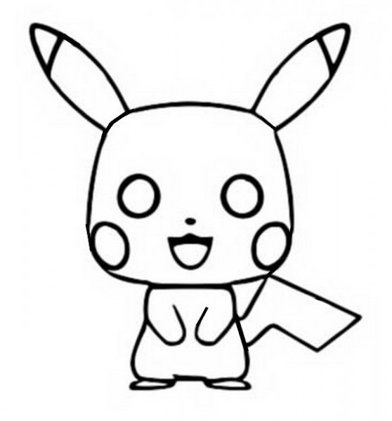 Dibujo Para Colorear Pikachu   Funko Pop Pikachu 4