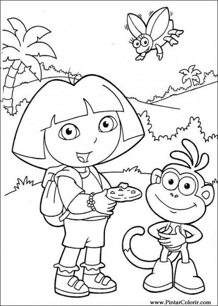 Dibujos Para Pintar Y Color Dora La Exploradora