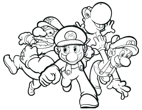 Dibujos De Mario Bros Para Colorear