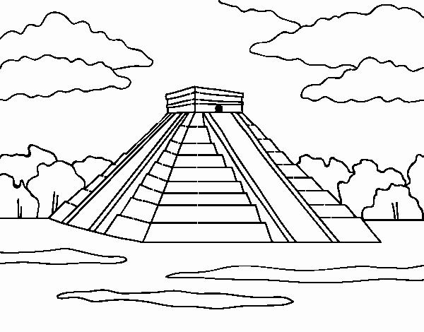 Dibujo De Pirámide De Chichén Itzá Pintado Por En Dibujos Net El