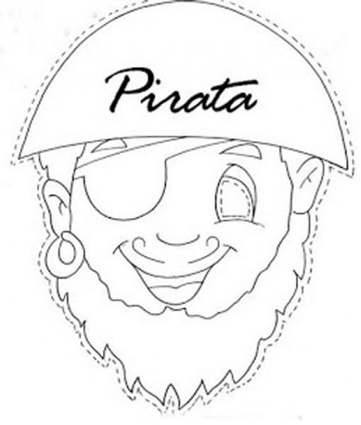 Cara De Pirata Para Colorear
