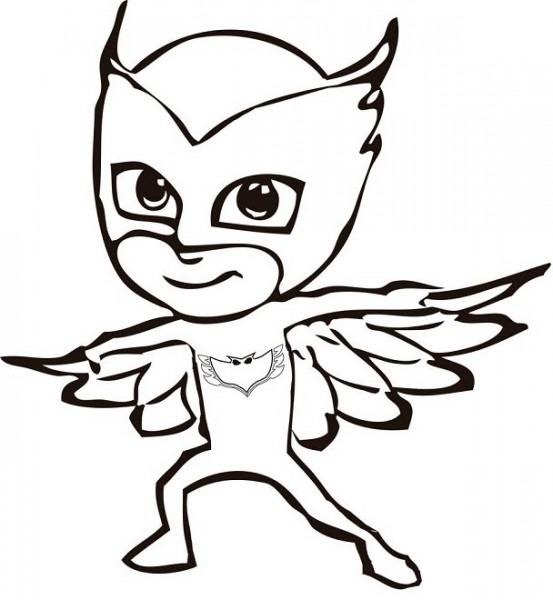 Dibujos Para Colorear Pjmasks – Héroes En Pijamas
