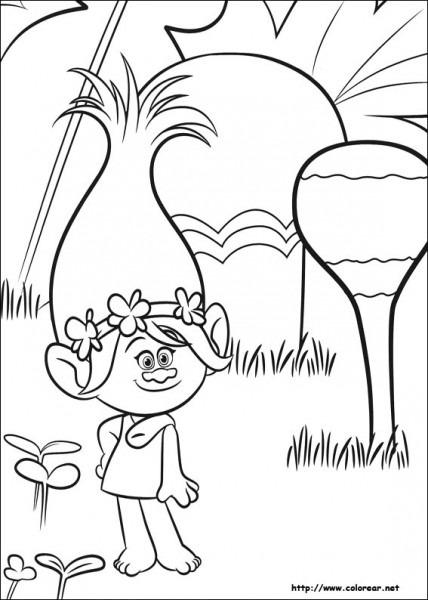 Dibujos Para Colorear Trolls