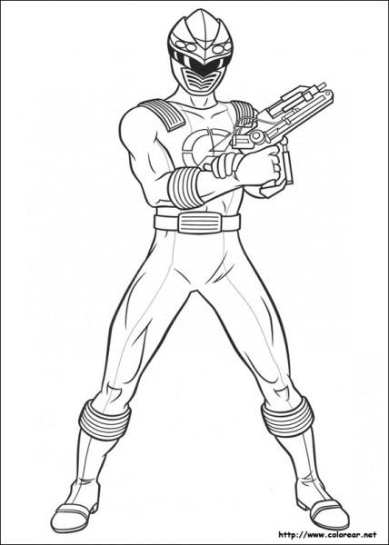 Dibujos De Power Rangers Para Colorear En Colorear Net