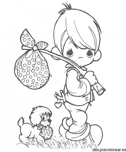Dibujo De Un Niño De Precious Moments