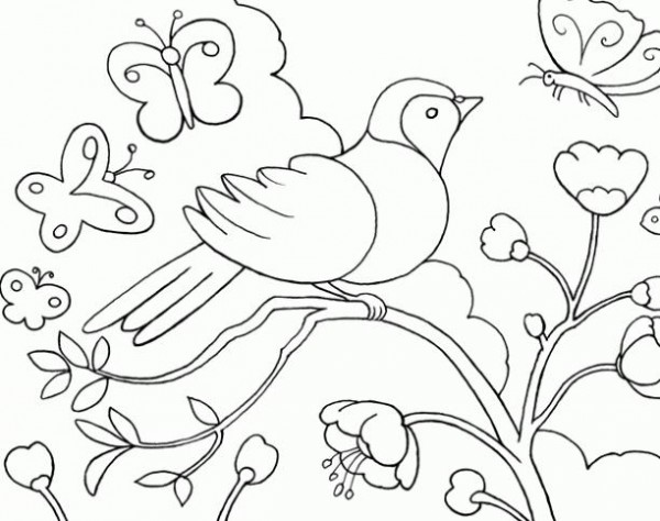 Dibujos Infantiles De Primavera Para Pintar