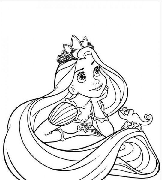 Princesas Disney  Dibujos Para Colorear De  Rapunzel (enredados)