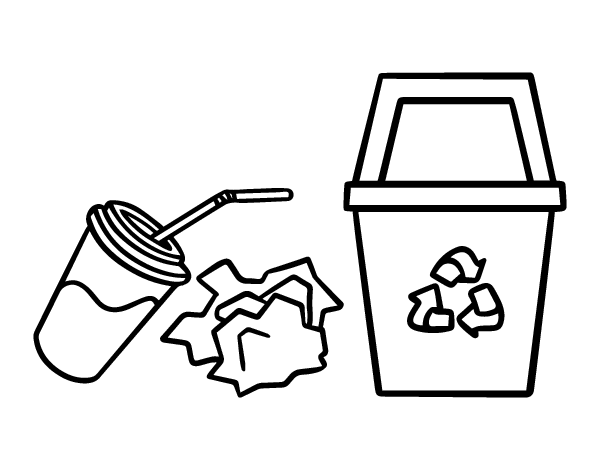 Dibujo De Reciclar Papel Para Colorear