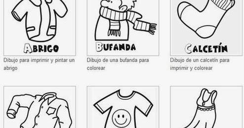 Recursos Tic Para EducaciÓn Infantil  Dibujos Para Pintar La Ropa