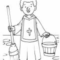 San Martin De Porres Dibujos Para Colorear